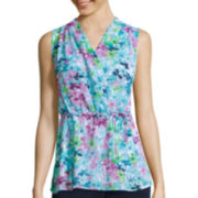 St. John's Bay® Sleeveless Peplum Top