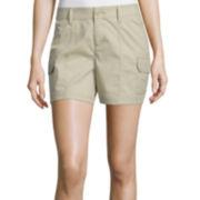 St. John's Bay® Poplin Cargo Shorts
