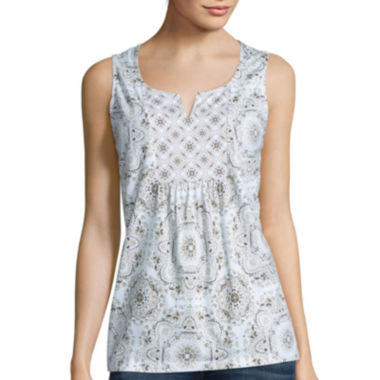 jcpenney.com | St. John's Bay® Twin-Print Tank Top