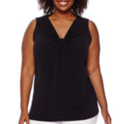 Worthington® Gathered Front Tank Top - Plus