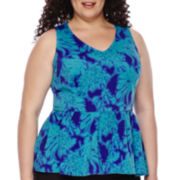 Worthington® Sleeveless Peplum Top - Plus
