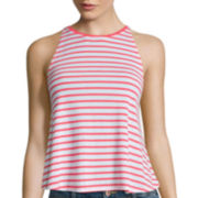 Arizona Stripe High Neck Swing Tank Top
