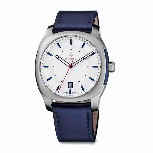 Swiza Mens Blue Strap Watch-Wat.0541.1001