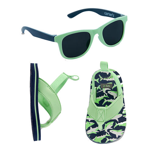 Carter's Boys Flip Flops and Sunglasses Set