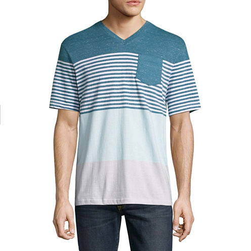Distortion Short Sleeve V Neck T-Shirt
