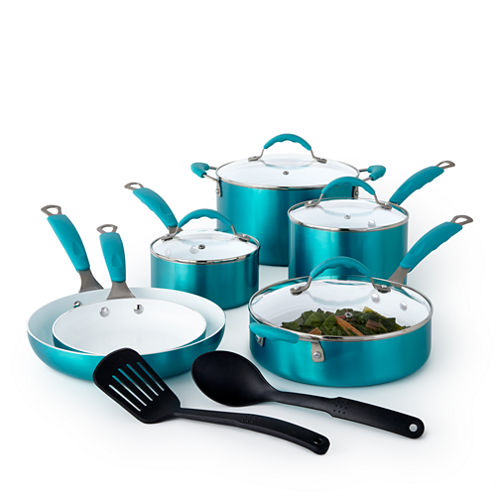 Cooks Copper 12-pc. Ceramic Cookware Set