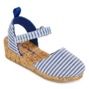 Carter's® Jenna Girls Striped Espadrilles - Toddler