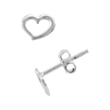 jcpenney.com | itsy bitsy™ Sterling Silver Cutout Heart Stud Earrings