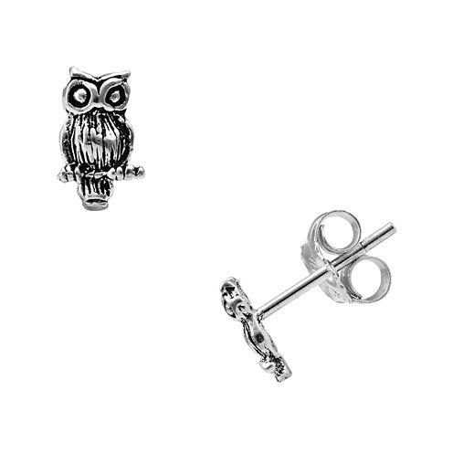 itsy bitsy™ Sterling Silver Owl Stud Earrings