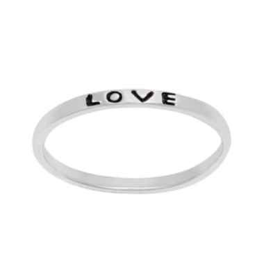 jcpenney.com | itsy bitsy™ Sterling Silver Love Band Ring