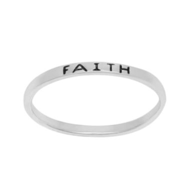jcpenney.com | itsy bitsy™ Sterling Silver Faith Band Ring