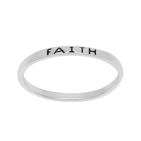 itsy bitsy™ Sterling Silver Faith Band Ring