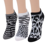 Mixit™ 6-pk. Animal Print No-Show Socks
