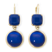 Monet® Blue Stone Double-Drop Earrings