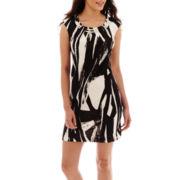 Studio 1® Sleeveless Embellished-Neck Sheath Dress - Petite