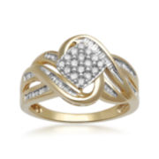 1/2 CT. T.W. Diamond 10K Yellow Gold Multi-Top Bypass Ring