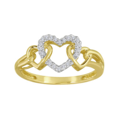 jcpenney.com | Diamond-Accent 10K Yellow Gold Triple-Heart Ring