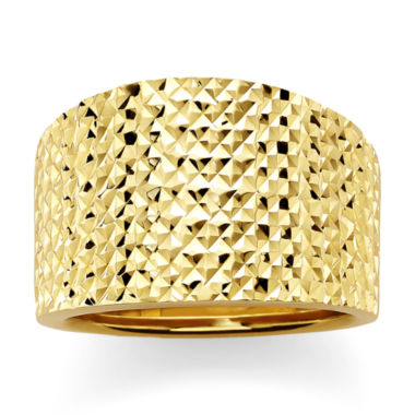 jcpenney.com | 14K Yellow Gold Textured Wide Ring