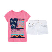 Arizona Graphic Tee or Embellished Shorties - Girls 7-16 and Plus