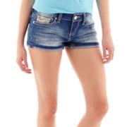 Soundgirl Embroidered Denim Shorts