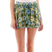 Olsenboye® Chiffon Print Shorts