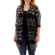 Arizona Dolman-Sleeve Print Duster - Plus