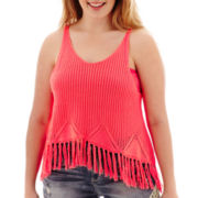 Arizona Fringe Tank Top - Plus