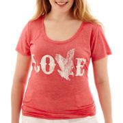 Arizona Short-Sleeve Americana Burnout T-Shirt - Plus