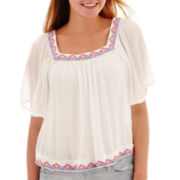 Arizona Short-Sleeve Peasant Top