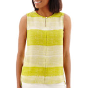 Liz Claiborne® Sleeveless Striped Blouse