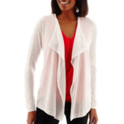 Liz Claiborne® Long-Sleeve Open Cardigan