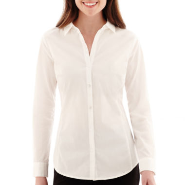 jcpenney.com | Worthington® Long-Sleeve Button-Front Shirt