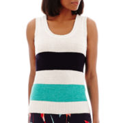Liz Claiborne® Striped Sweater Knit Tank Top