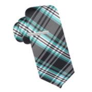 JF J. Ferrar® Trice Plaid Tie - Slim