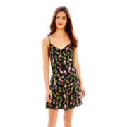 L'Amour by Nanette Lepore Sleeveless Corset-Tie Slip Dress