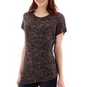 a.n.a® Short-Sleeve Asymmetrical Knit T-Shirt