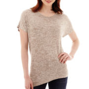 a.n.a® Short-Sleeve Asymmetrical Fitted T-shirt