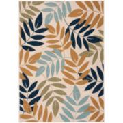 Nourison® Leaves Indoor/Outdoor Rectangular Rug