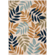 Nourison® Leaves Indoor/Outdoor Rectangular Rug