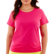 Stylus™ Short-Sleeve Crewneck Slub Tee - Plus