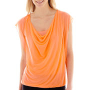 Worthington® Drape-Neck Mesh Top - Tall