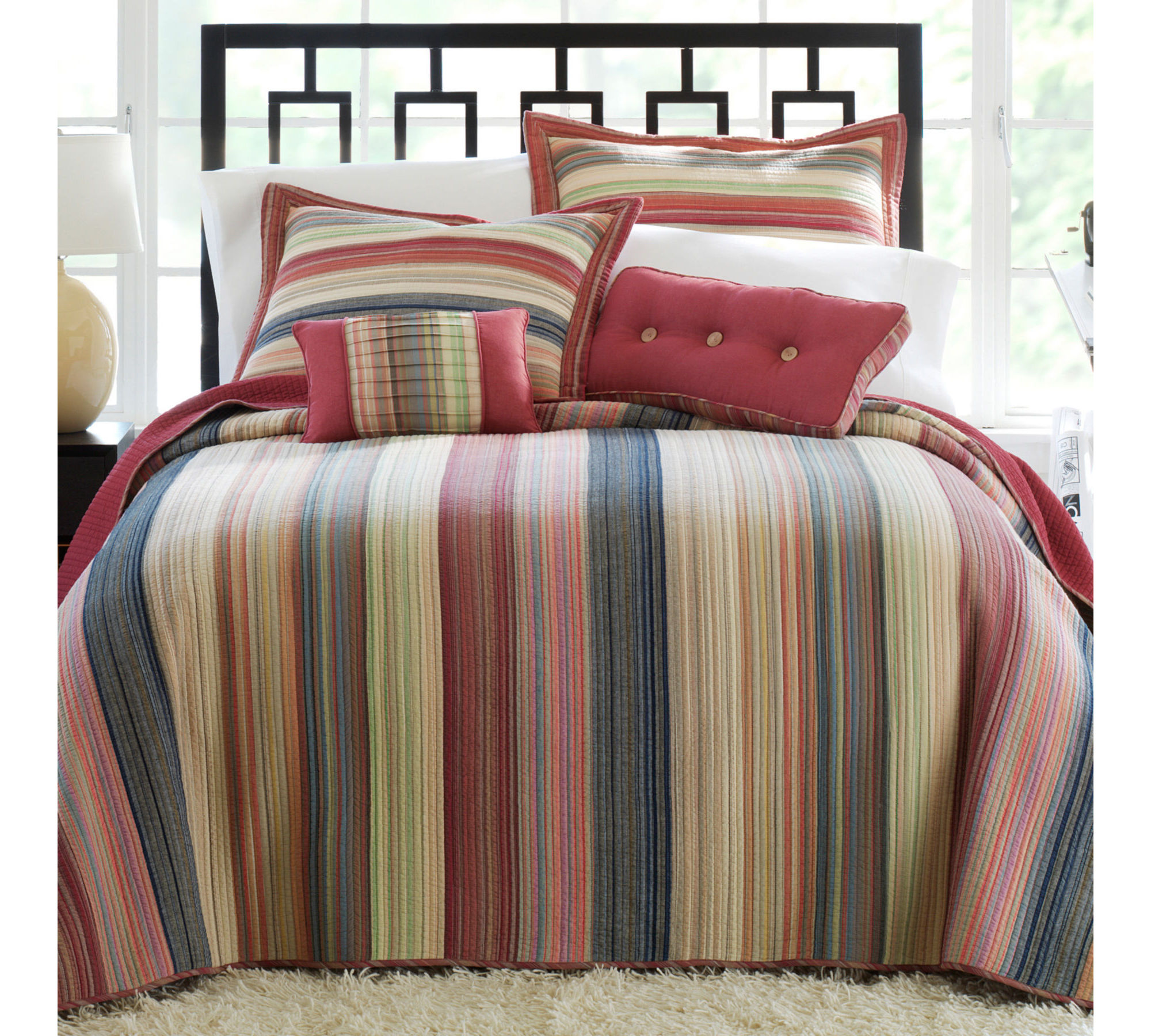 Wavy Chevron And Striped Comforters