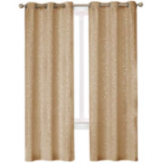 Medallion Blackout Grommet-Top Curtain Panel Pair
