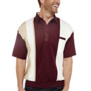 Palmland® Short-Sleeve Colorblock Banded-Bottom Polo