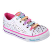 Skechers® Twinkle Toes Shuffles Twirly Toes Girls Sneakers - Little Kids