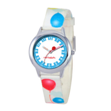 jcpenney.com | Red Balloon™ Boys' White Balloon Strap Watch