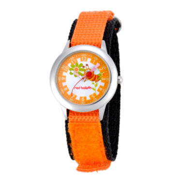 jcpenney.com | Red Balloon™ Boys' Orange Bee Dial Strap Watch