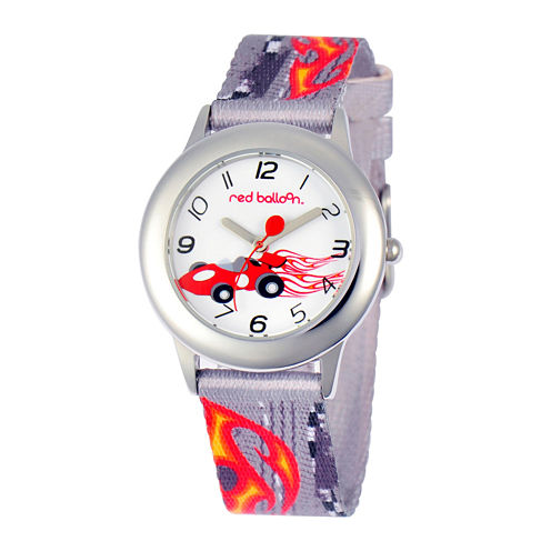 Red Balloon™ Boys' Gray Car-Printed Strap Watch