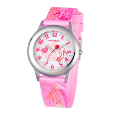 jcpenney.com | Red Balloon™ Girls' Pink Glitz Strap Watch