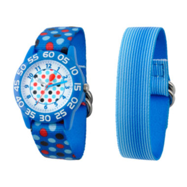 jcpenney.com | Red Balloon™ Boys' Blue Polka Dot Interchangeable Watch Set